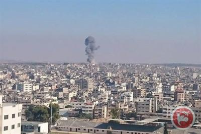 Gaza under Israeli bombardment