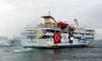 The Gaza aid ship Mavi Marmara, which came under attack last year