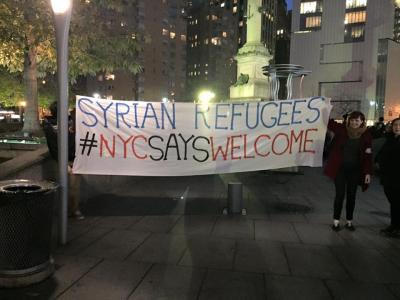 New Yorkers say yes to refugees, no to Trump